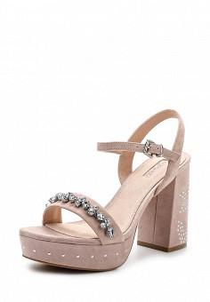 Босоножки, Topshop, цвет: розовый. Артикул: TO029AWUWS60. Женская обувь / Босоножки