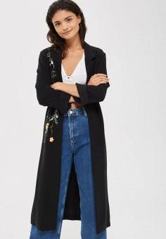 Накидка, Topshop, цвет: черный. Артикул: TO029EWVHO91. Женская одежда / Джемперы, свитеры и кардиганы / Пончо, жилеты и накидки