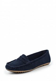 Мокасины, Topway, цвет: синий. Артикул: TO038AWQHL48. Женская обувь / Мокасины и топсайдеры