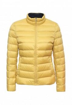 Пуховик, Tommy Hilfiger, цвет: желтый. Артикул: TO263EWKBX20. Женская одежда