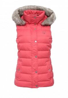 Жилет утепленный, Tommy Hilfiger, цвет: розовый. Артикул: TO263EWKBX33. Женская одежда