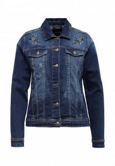Куртка джинсовая, Top Secret, цвет: синий. Артикул: TO795EWQKA63. Женская одежда / Тренды сезона / Летний деним / Джинсовые куртки