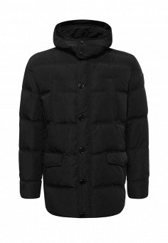 Пуховик, Trussardi Jeans, цвет: черный. Артикул: TR016EMUWE33. Мужская одежда / Верхняя одежда / Пуховики и зимние куртки