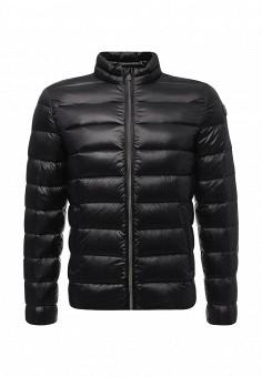 Пуховик, Trussardi Jeans, цвет: черный. Артикул: TR016EMUWE37. Мужская одежда / Верхняя одежда / Пуховики и зимние куртки