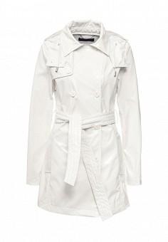 Плащ, Trussardi Jeans, цвет: белый. Артикул: TR016EWOOP61. Женская одежда