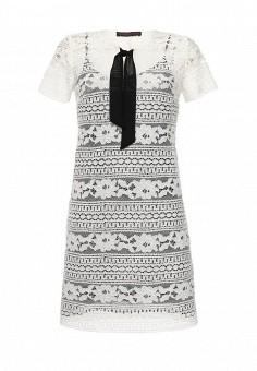 Платье, Trussardi Jeans, цвет: черно-белый. Артикул: TR016EWOOQ06. Женская одежда