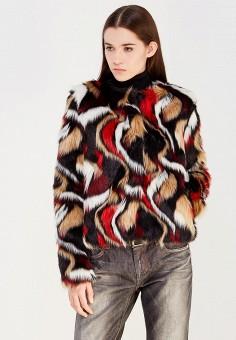 Шуба, Trussardi Jeans, цвет: мультиколор. Артикул: TR016EWUWF18. Женская одежда / Верхняя одежда / Шубы и дубленки