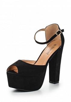 Босоножки, Tulipano, цвет: черный. Артикул: TU005AWSSH93. Женская обувь / Босоножки