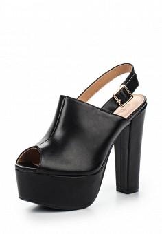 Босоножки, Tulipano, цвет: черный. Артикул: TU005AWSSH96. Женская обувь / Босоножки
