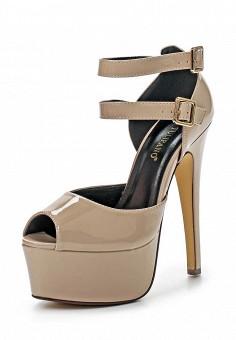 Босоножки, Tulipano, цвет: коричневый. Артикул: TU005AWSSI10. Женская обувь / Босоножки