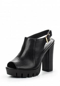Босоножки, Tulipano, цвет: черный. Артикул: TU005AWSSI14. Женская обувь / Босоножки