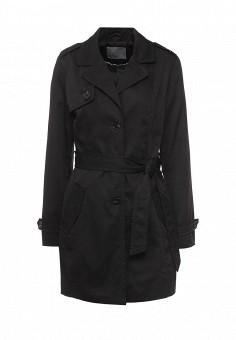 Плащ, Vero Moda, цвет: черный. Артикул: VE389EWOGQ25. Женская одежда / Верхняя одежда / Плащи и тренчкоты