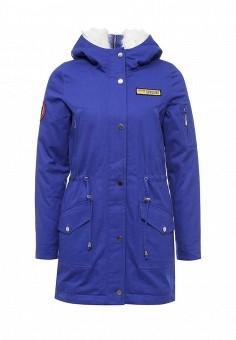 Парка, V&Florence, цвет: синий. Артикул: VF001EWLUX52. Женская одежда / Верхняя одежда / Парки