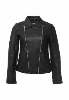 Куртка кожаная, Vila, цвет: черный. Артикул: VI004EWOYD33. Женская одежда / Верхняя одежда / Косухи