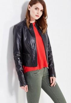 Куртка кожаная, Vila, цвет: черный. Артикул: VI004EWUPU42. Женская одежда / Верхняя одежда / Кожаные куртки