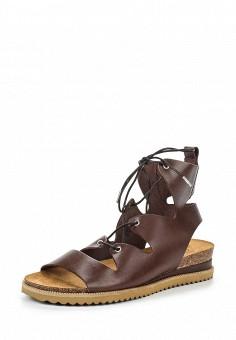 Сандалии, Weekend Max Mara, цвет: коричневый. Артикул: WE017AWORC09. Премиум / Обувь / Сандалии