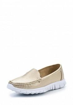 Мокасины, Wilmar, цвет: золотой. Артикул: WI064AWRCE14. Женская обувь / Мокасины и топсайдеры