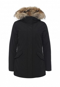 Пуховик, Woolrich, цвет: черный. Артикул: WO256EWKWT34. Женская одежда / Верхняя одежда