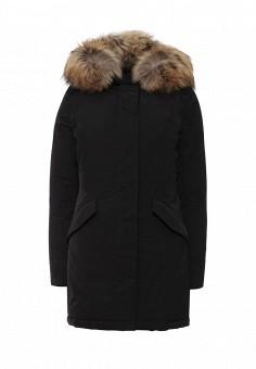 Пуховик, Woolrich, цвет: черный. Артикул: WO256EWKWT59. Женская одежда / Верхняя одежда