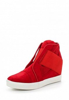 Кеды на танкетке, Y & L, цвет: красный. Артикул: YL002AWSKZ64. Женская обувь / Кроссовки и кеды / Кеды