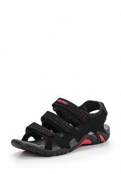 Спортивные сандалии Zenden выполнены из искусственного нубука черного... от Zenden Active