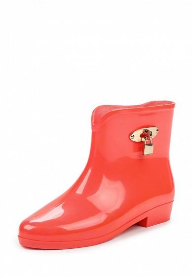 Резиновые полусапоги Ideal Shoes коралловый ID005AWPSL68 Китай  - купить со скидкой