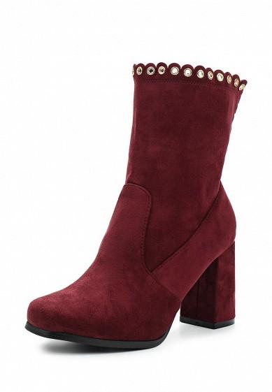 Купить Полусапоги Ideal Shoes бордовый ID007AWWEI41 Китай