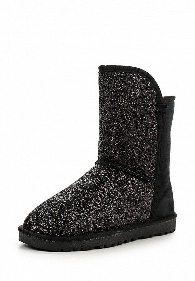 Угги UNIQUE SEQUIN PANELLED FAUX FUR BOOT
