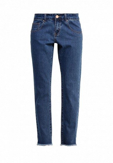 Джинсы LOST INK SLIM BOYFRIEND IN ASTER WASH WITH DESTROYED HEM