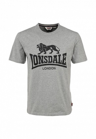 Футболка Lonsdale серый LO789EMARK43 Индонезия  - купить со скидкой