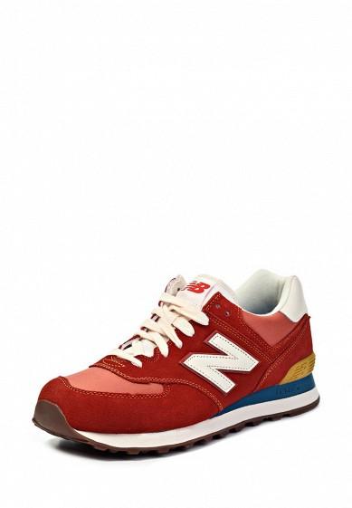 Кроссовки New Balance ML574 красный NE007AMGH126  - купить со скидкой