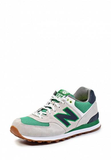 Кроссовки New Balance ML574 зеленый, серый NE007AMGH132 Индонезия  - купить со скидкой