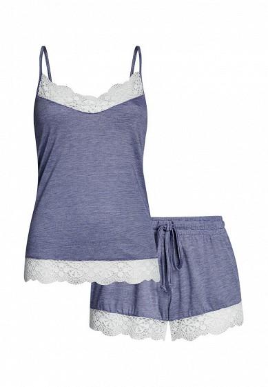Пижама oodji синий OO001EWRLV63 Китай  - купить со скидкой