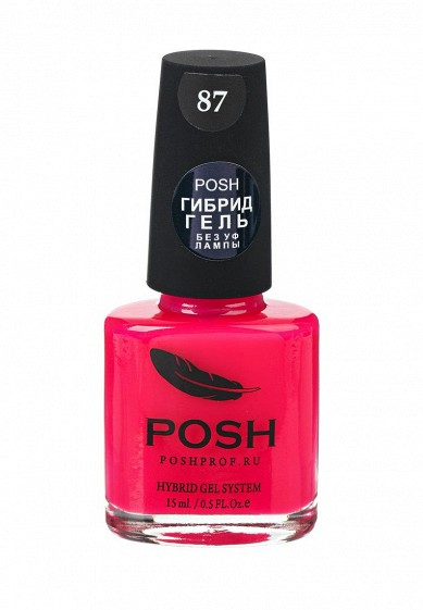 Купить Гель-лак для ногтей Posh Гибрид без УФ лампы неон Тон 87 розовый лобстер фуксия PO021LWXZM56 Россия
