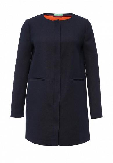 Пальто United Colors of Benetton синий UN012EWPIG81 Румыния  - купить со скидкой