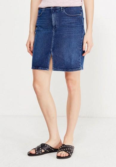 Купить Юбка джинсовая Wrangler синий WR224EWVHJ37 Тунис