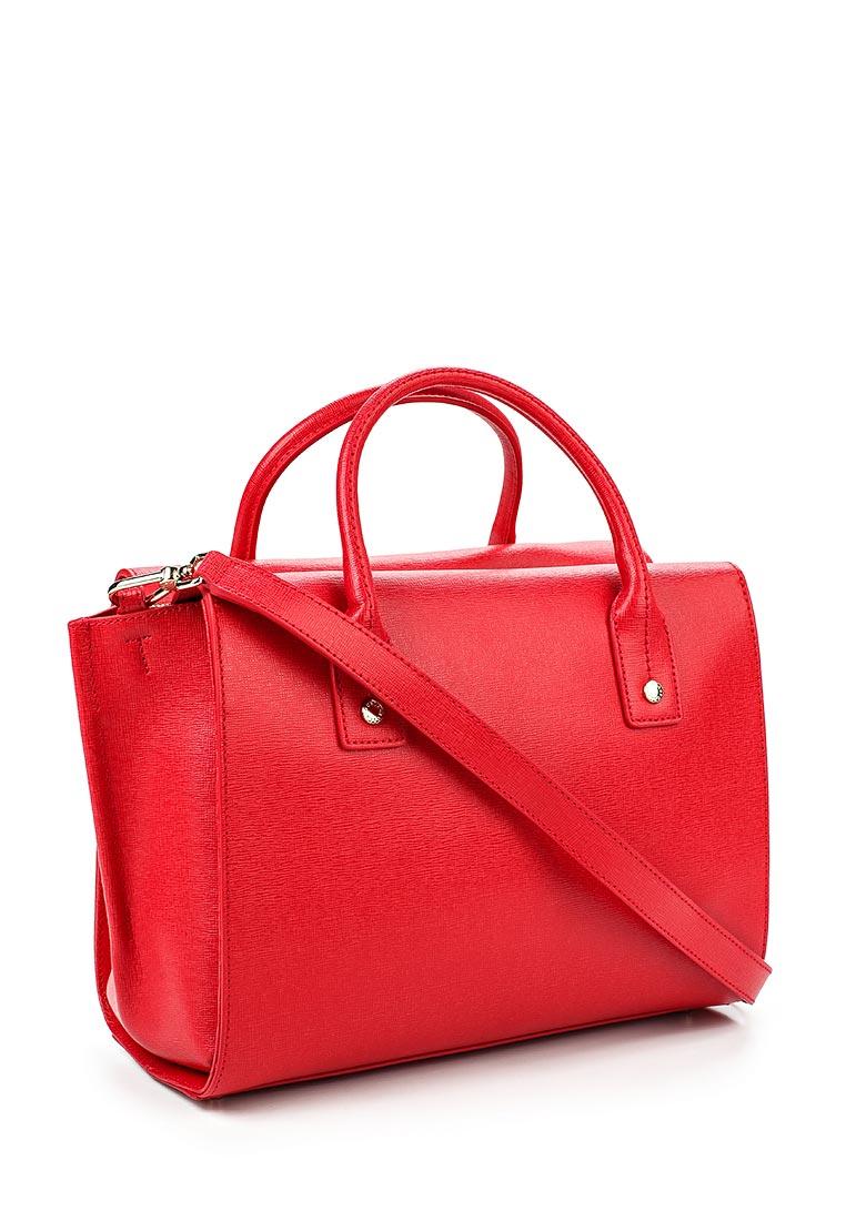 Модная женская сумка Furla safiano красная 108 - купить по