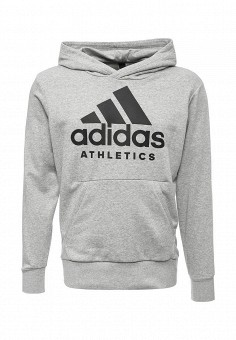 Худи, adidas Performance, цвет: серый. Артикул: AD094EMUOD97. adidas Performance
