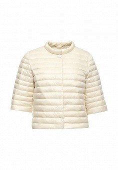 Пуховик, Add, цвет: бежевый. Артикул: AD504EWQIP29. Женская одежда / Верхняя одежда / Пуховики и зимние куртки