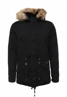 Парка, Alcott, цвет: черный. Артикул: AL006EMLDL91. Мужская одежда / Верхняя одежда / Парки