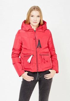 Пуховик, Armani Jeans, цвет: фуксия. Артикул: AR411EWTYA54. Премиум / Одежда / Верхняя одежда / Пуховики и зимние куртки
