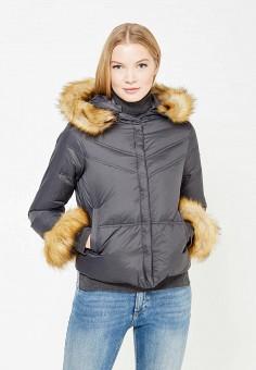 Пуховик, Armani Jeans, цвет: серый. Артикул: AR411EWTYA58. Премиум / Одежда / Верхняя одежда / Пуховики и зимние куртки