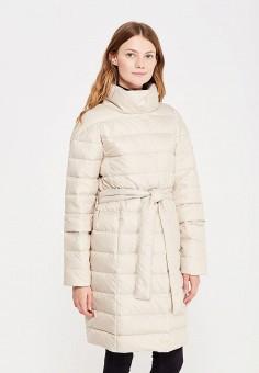 Пуховик, Baon, цвет: бежевый. Артикул: BA007EWWAQ09. Женская одежда / Верхняя одежда / Пуховики и зимние куртки