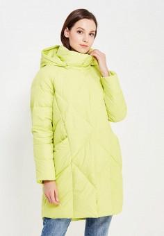 Пуховик, Baon, цвет: желтый. Артикул: BA007EWWAQ43. Женская одежда / Верхняя одежда / Пуховики и зимние куртки