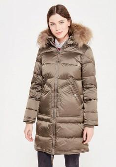 Пуховик, Baon, цвет: бежевый. Артикул: BA007EWWAQ47. Женская одежда / Верхняя одежда / Пуховики и зимние куртки / Длинные пуховики и куртки