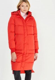 Пуховик, Baon, цвет: красный. Артикул: BA007EWWAQ61. Женская одежда / Верхняя одежда / Пуховики и зимние куртки / Длинные пуховики и куртки