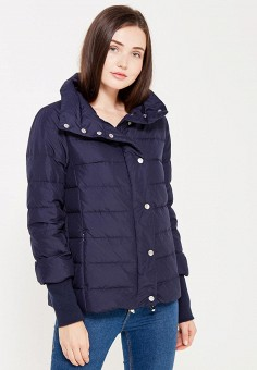 Пуховик, Baon, цвет: синий. Артикул: BA007EWWAQ76. Женская одежда / Верхняя одежда / Пуховики и зимние куртки