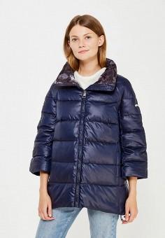 Пуховик, Baon, цвет: синий. Артикул: BA007EWWAQ78. Женская одежда / Верхняя одежда / Пуховики и зимние куртки