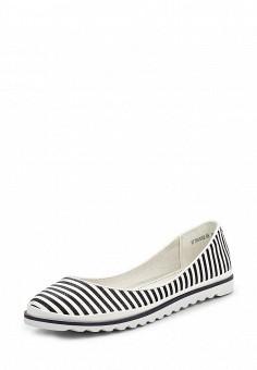 Балетки, Betsy, цвет: черно-белый. Артикул: BE006AWQBU93. Женская обувь