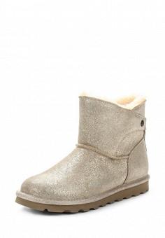 Полусапоги, Bearpaw, цвет: золотой. Артикул: BE223AWYBR53. Женская обувь / Сапоги